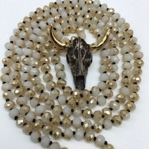 Jewelry - Boho Crystal Beads Steer Necklace